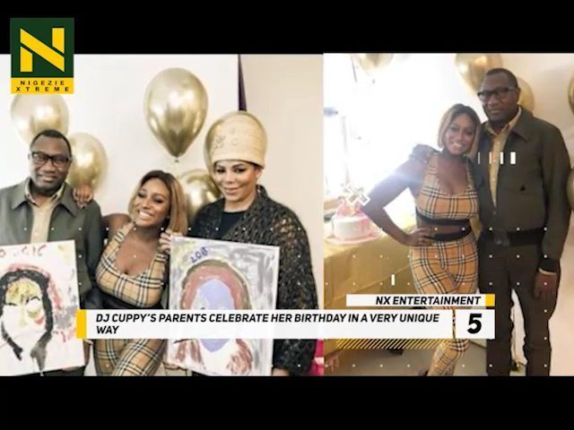 HOW DJ CUPPY's PARENTS CELEBRATED HER BIRTHDAY . #NXNews #NXEntertainment...