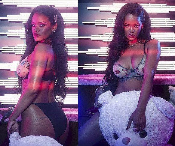 Rihanna-ARAB-Saudi-Lingerie-Racy-Hawt