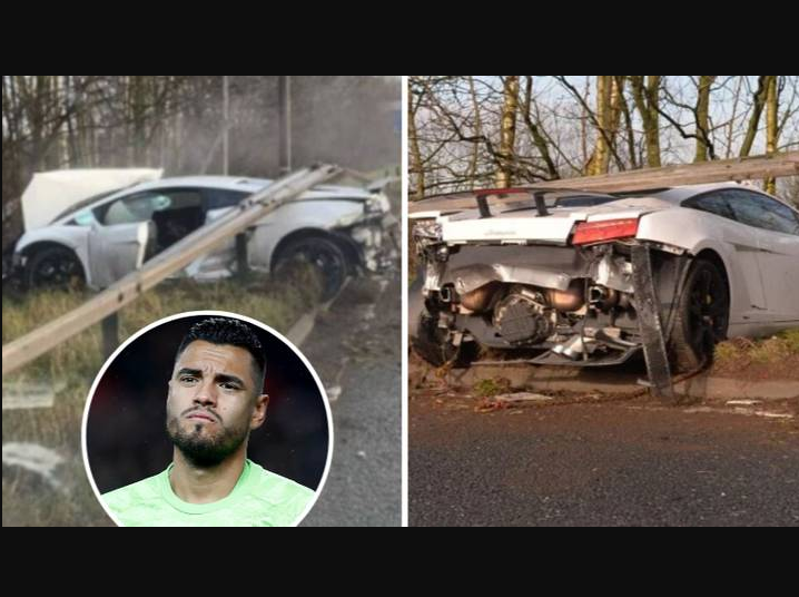 ACCIDENT-CAR-CRASH-MAN-UTD-MANCHESTER-SERGIO