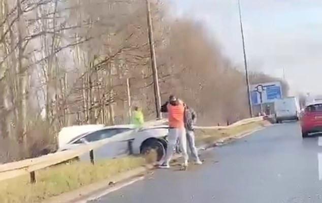 ACCIDENT-CAR-CRASH-MAN-UTD-MANCHESTER-SERGIO